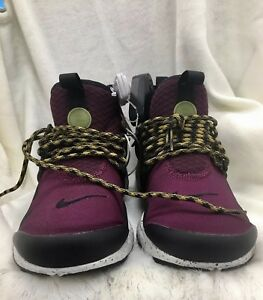low priced 6464c f3617 Image is loading New-Mens-Nike-Air-Presto-Mid-Utility-Bordeaux-