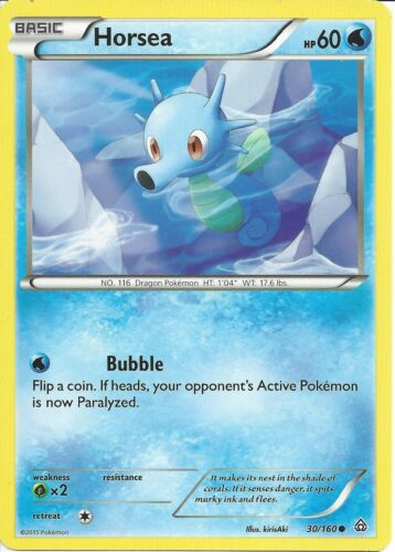 HORSEA 30//160 POKEMON CARD XY PRIMAL CLASH
