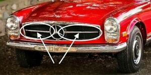 MERCEDES-W113-PAGODA-SL-FRONT-RADIATOR-GRILLE-CHROME-TRIMS