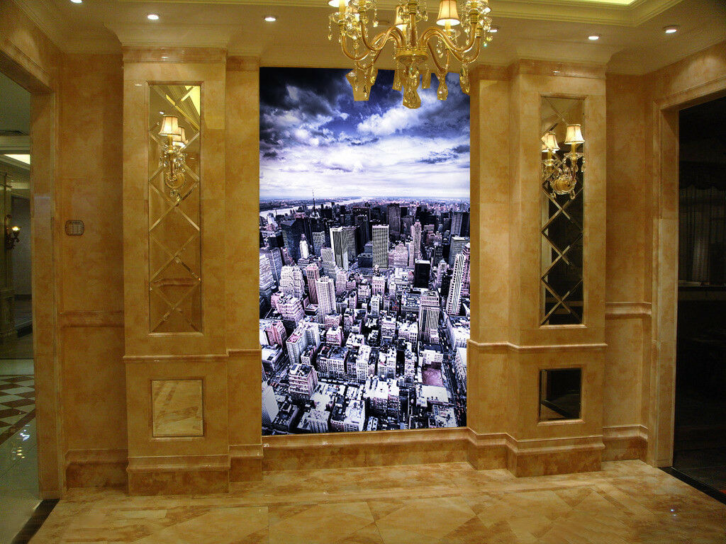3D Street City 4112 Wallpaper Murals Wall Print Wall Mural AJ WALLPAPER UK Carly