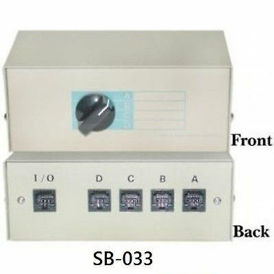 CablesOnline 4-Way RJ11/12 Manual Switch Box, SB-033