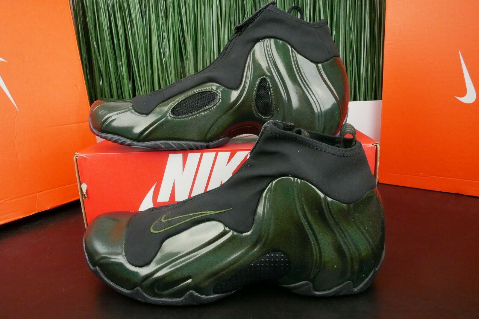 Nike Air Flightposite Mens Legion Green Basketball shoes AO9378 300 Size 11.5