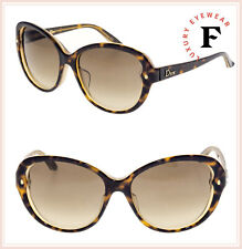 3c3ae347de83a CHRISTIAN DIOR PONDICHERY Cat Eye Brown Tortoise Crystal Lady Sunglasses