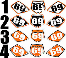 Graphics for 2002-2008 KTM SX65 SX 65 Number Plates Side Panels Decal