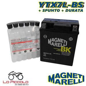 Batteria Magneti Marelli Ytx7l-bs Sigillata Honda Sh 125 2001 2002 2003 2004