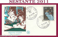 ITALIA FDC FILAGRANO ARMANDO SPADINI 1975 ANNULLO ROVIGO G642