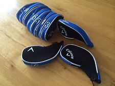 10  Callaway black blue  superior GOLF iron CLUB head covers HEADCOVERS