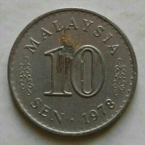 Parliament Series 10 sen coin 1978