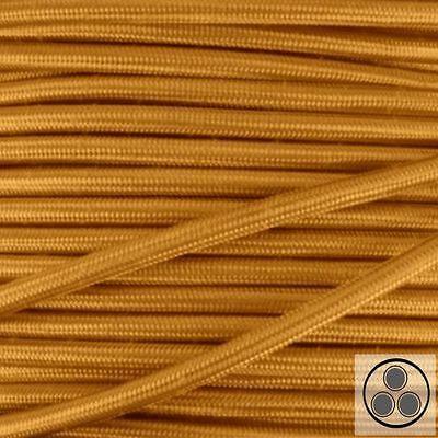 Pflichtbewusst Textilkabel meterware Spezieller Kauf Stoffkabel Farbe Gold 3 Adrig 3 X 1,5 Mm² Rund
