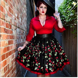 Pinup Couture Womens Cherry Skirt
