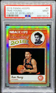 Trae-Young-2018-19-Panini-Hoops-Class-of-2018-Holo-Rookie-RC-PSA-9-POP-8