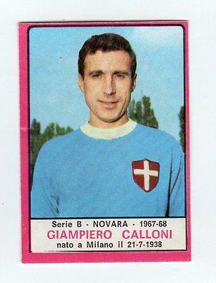 GASPARINI NOVARA FIGURINA CALCIATORI PANINI 1967//68