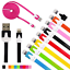 FLAT NOODLE USB Data Sync Charger Cable FOR iphone 4 4s 5 5c 6 7 plus micro usb