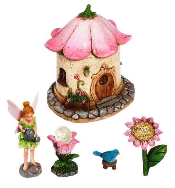 Buy 3 Save $5 Miniature Dollhouse Fairy Garden Blue Flower Cake