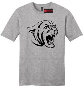 Cougar-Tiger-Face-Mens-Soft-T-Shirt-Animal-Graphic-Tee-Z2