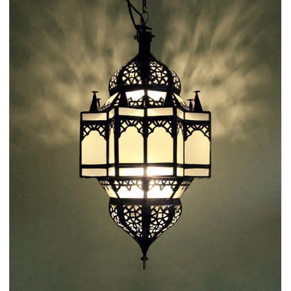 Oriental Lampe Marocaine suspendu Lampe Plafonnier verre Madina verre Plafonnier dépoli 9d6afb