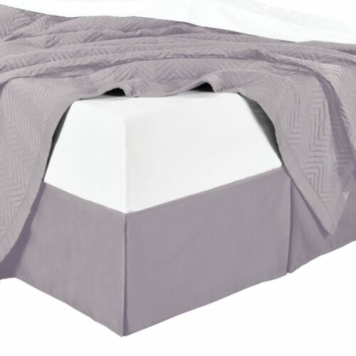100/% Microfiber Solid Bed Skirt; Dust and Hair Repellent; Machine Washable
