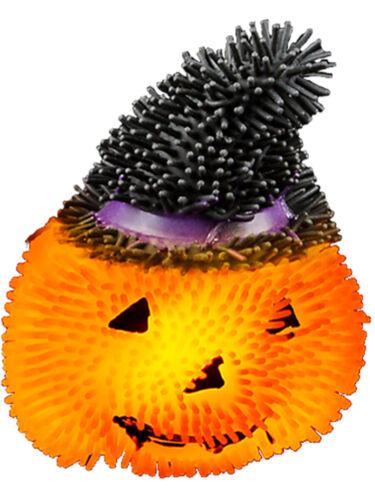 Light Up Squishy Halloween Pumpkin Stress Puffer Ball Release Squeeze Toy