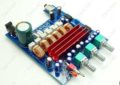 TPA3116D2 2.1 HIFI  digital subwoofer amplifier board 50W+50W+100W 12v car