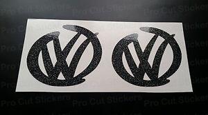 SWOOSH Pair Custom Car Bumper Window Stickers Decals Transporters Campers Van