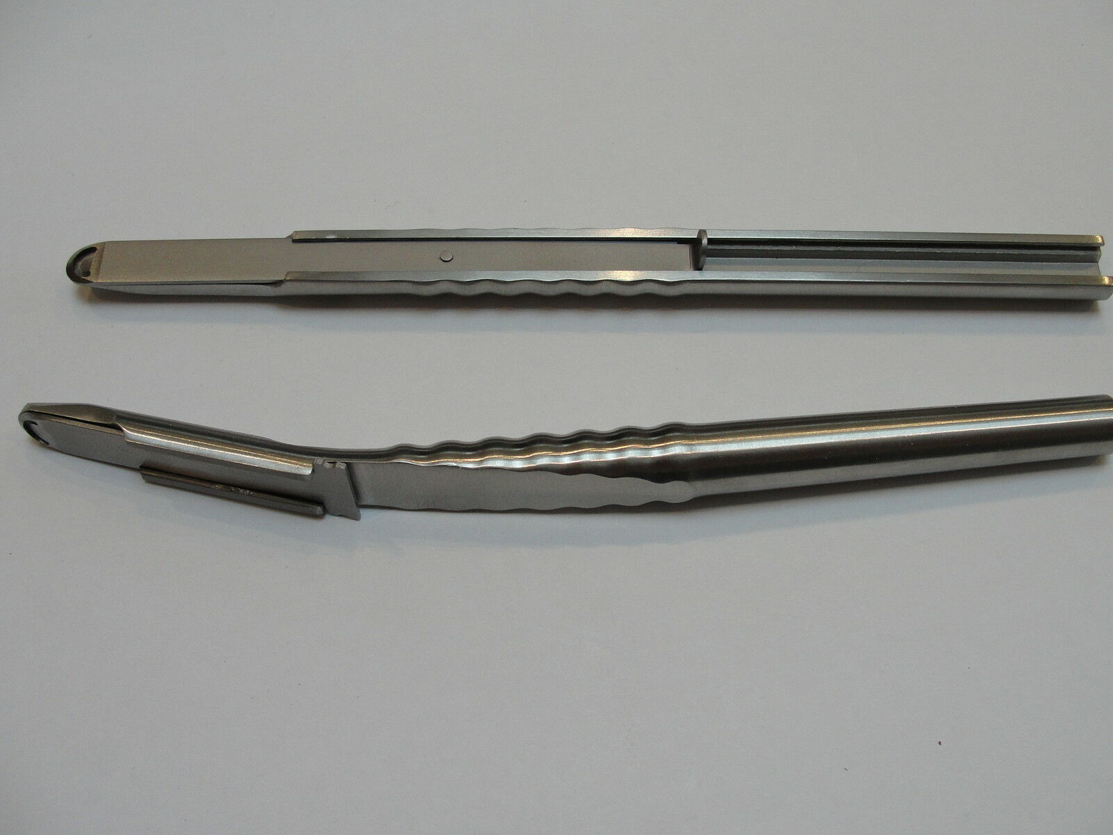Bone scrapers 1 straight 1 curved dental implantology surgical instruments