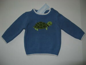 Gymboree TURTLE /& RABBIT Baby Boys 3 6 9 12 m NWT Sweater Turtle CUTE