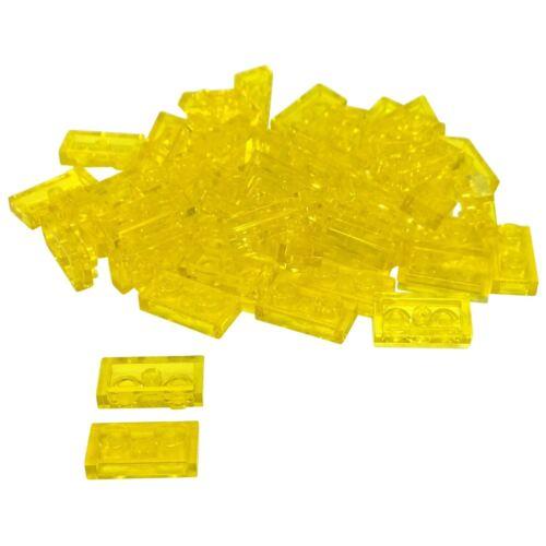 50 NEW LEGO Plate 1 x 2 BRICKS Trans-Yellow