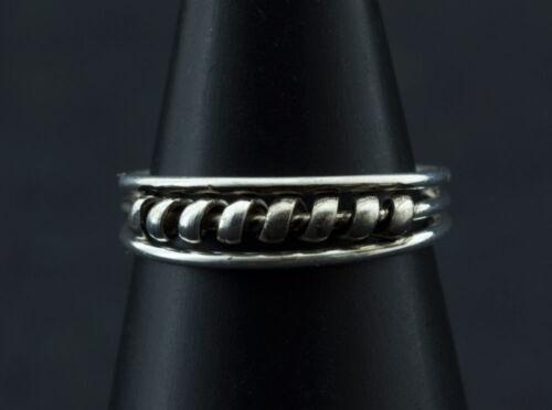 Bague de pied bijoux d/' orteil ethnika Gajra ajustable en metal blanc  W89 8031