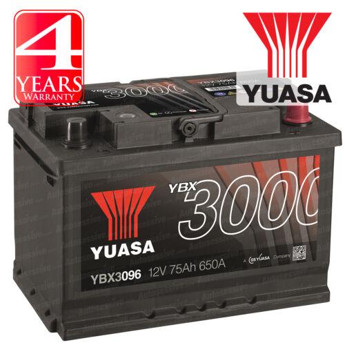 Yuasa Car Battery Calcium 12V 650CCA 75Ah T1 For Saab 41707 2.0 9-3X T 220 XWD
