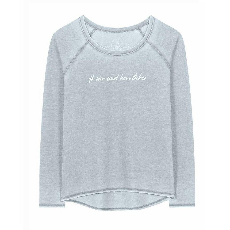 Herrlicher Sweatshirt mit Frontprint