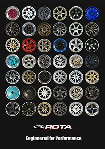 Official Rota A1 Size Poster Rota Wheels Car Gift Present Dad Boyfriend Brother Plakaty artystyczne