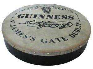 Irish-Bodhran-mit-GUINNESS-Logo-18-x-3-5-Zoll-B-Ware