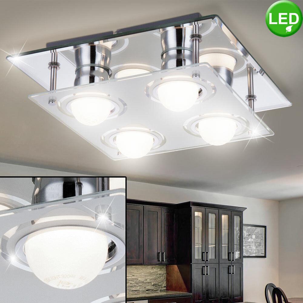 Luxus LED Decken Leuchte Schlaf Gäste Zimmer Kugel Licht-Schiene Chrom Lampe