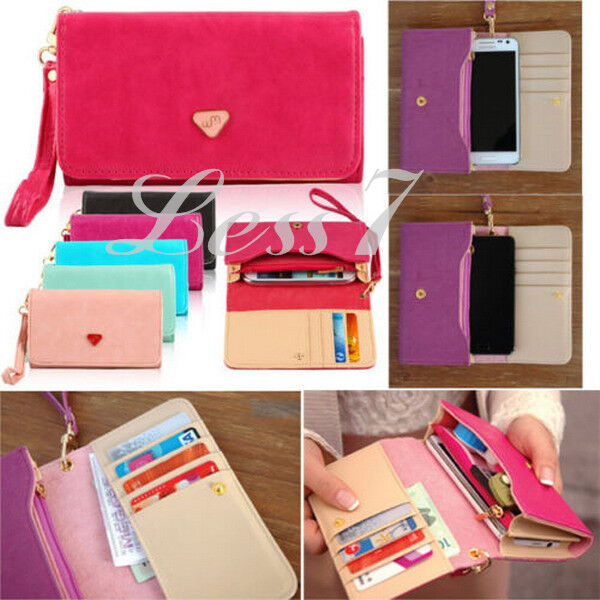 4 Colors Fashionable Women's Envelope Wallet Money Cell Phone Purse Bag Selling