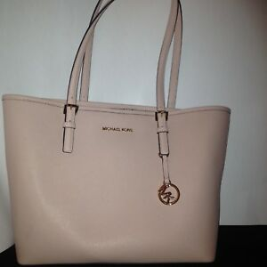 5b63f55dda26 Image is loading Michael-Kors-Jet-Set-Tote-Baby-Pink
