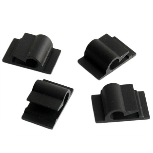 Car Wire Tie Rectangle Cord Cable Holder Mount Clip Clamp Self-adhesive Clips UK