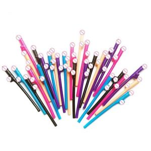 10PCS-RAINBOW-COLOURED-WILLY-STRAWS-HEN-NIGHT-PARTY-ACCESSORIES-amp-FAVOURS
