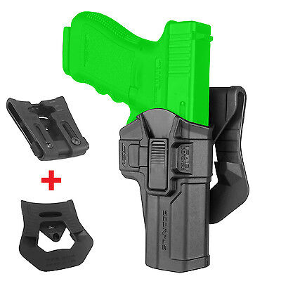 G-21 SCORPUS® FAB Defense Black Glock Level 1 Holster Paddle+Belt