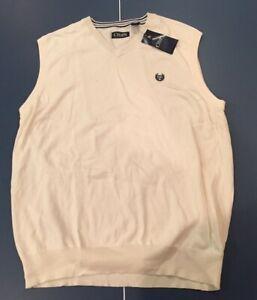 CHAPS Mens Cotton V-Neck Sweater Vest Sweater Vest