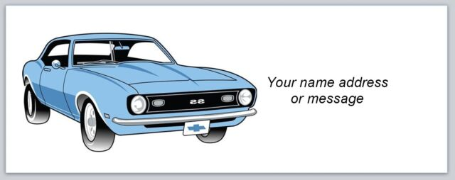 Personalized Return Address Labels Vintage Car Buy 3 get 1 free (bo 907)