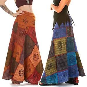 8ea1f785b Detalles de Falda Patchwork hippy, falda larga, Hippie Bohemio Envolvente  Falda, Festival Clothing- ver título original