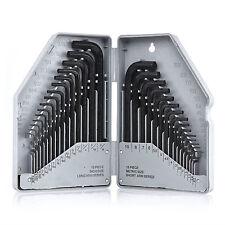 Allen Wrench & Hex Key | 30pc Set METRIC & SAE Standard Short Long Arm CrV Steel