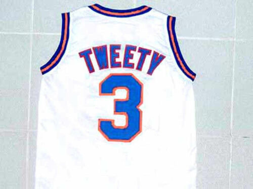 TWEETY BIRD #3 TUNE SQUAD SPACE JAM BASKETBALL JERSEY QUALITY SEWN NEW ANY SIZE