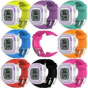 1*Silicona Reloj Pulsera Correa Banda para Garmin Forerunner 10 15 GPS Watch S&L
