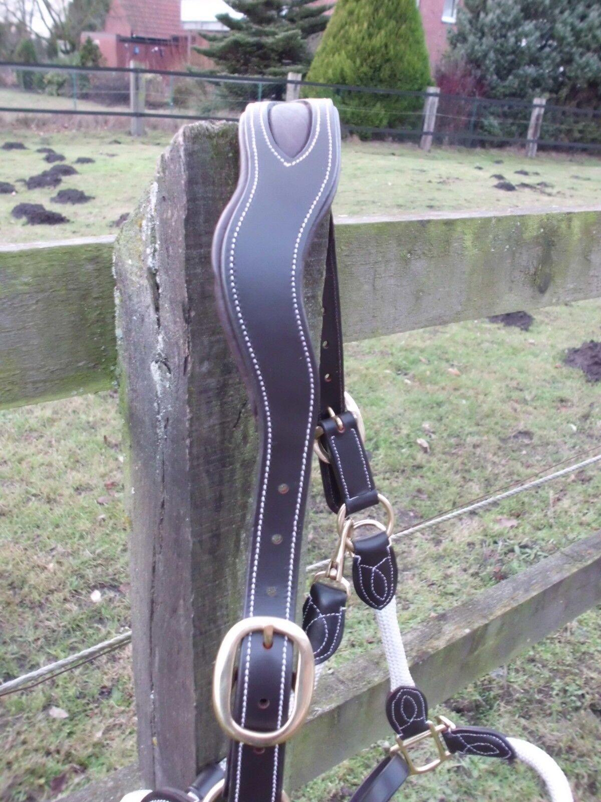 Halfter aus aus aus Leder Nylon mit Ohrenfreiheit Größe    Full   WarmBlaut,dunkelbraun f0e611