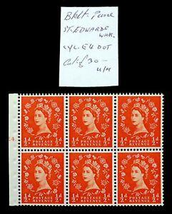GB 1955 St Edward ½d Cyl Booklet Pane UM As Described NH757 - Lyndhurst, United Kingdom - GB 1955 St Edward ½d Cyl Booklet Pane UM As Described NH757 - Lyndhurst, United Kingdom