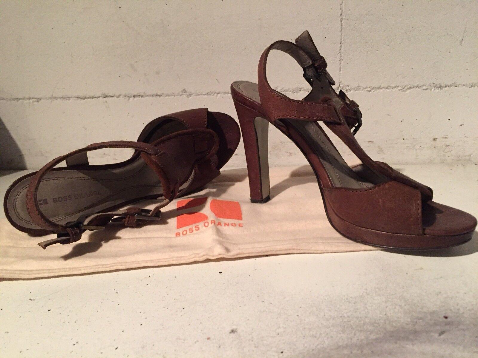 Sandalette von Boss, Boss, von Schuhgröße 37 braun, 1f8bff