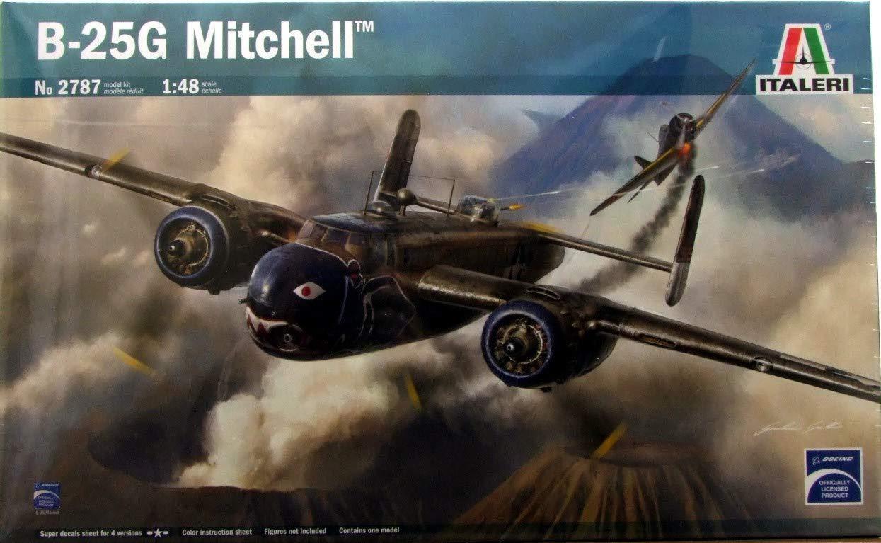 B-25G Mitchell Bomber USAF 1 48 Italeri 2787 Plastic Model Kit Airplane WWII
