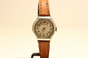 Details About Antique Beautiful Swiss Solid Silver Ladies Watch Rega Watch Nice Relief Dial