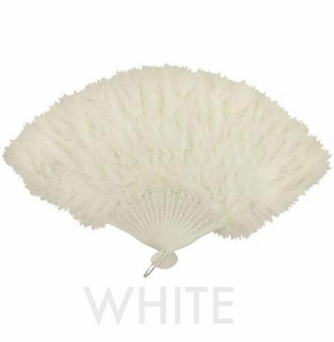 New Womens Fashion Feather Fan Fancy Dress Cabaret Gatsby Costume Accessory fun